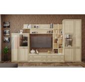 Гостиная модульная готовый комплект Карина 2.1  Лером (2224*3600*448)