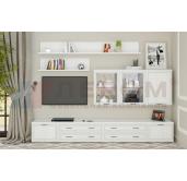 Гостиная модульная готовый комплект Карина 3 Лером (2106*2880*448)