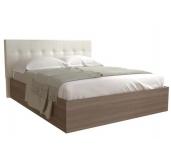 Кровать Баунти ясень шимо/искусственная кожа без основания