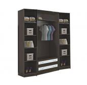 МС Кэт шкаф 4-створчатый 1600 (кожа)