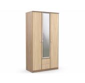 Ронда шкаф 3-створчатый с зеркалом 1200 (ясень светлый/ясень темный) для гостиниц