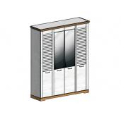 СГ Кантри шкаф 4-х дверный 1860 (сосна андерсен, орех рибек натуральный)