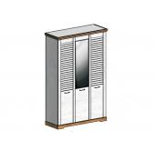 СГ Кантри шкаф 3-х дверный 1460 (сосна андерсен, орех рибек натуральный)