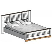 СГ Кантри кровать 1600 (сосна андерсен, орех рибек натуральный)