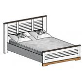 СГ Кантри кровать 1400 (сосна андерсен, орех рибек натуральный)