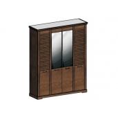 СГ Кантри шкаф 4-х дверный 1860 (орех рибек темный)