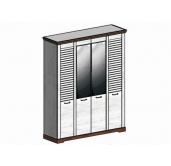 СГ Кантри шкаф 4-х дверный 1860 (сосна андерсен, орех рибек темный)