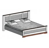 СГ Кантри кровать 1600 (сосна андерсен, орех рибек темный)