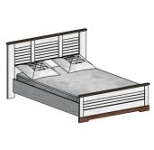 СГ Кантри кровать 1400 (сосна андерсен, орех рибек темный)