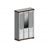 СГ Кантри шкаф 3-х дверный 1460 (сосна андерсен, орех рибек темный)
