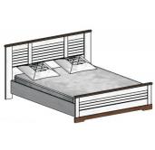 СГ Кантри кровать 1800 (сосна андерсен, орех рибек темный)