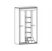 МС Мария-Луиза шкаф 3-х дверный 1350