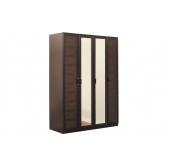 МС Волжанка шкаф 1602 (венге/крок коричневый)