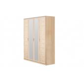 МС Волжанка шкаф 1602 (дуб линдберг/крок кремовый)