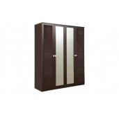 МС Мона шкаф 1602 (венге/крокодил коричневый)