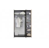 МС Волжанка шкаф 1202 (венге/крок коричневый)