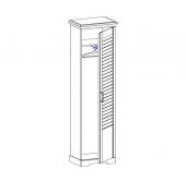 МГ Кантри шкаф для одежды 1-но дверный 592 (Сосна Андерсен, Орех Рибек натуральный)