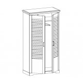 МГ Кантри шкаф для одежды 2-х дверный 1124 (Сосна Андерсен, Орех Рибек темный)