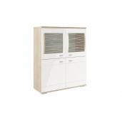 МГ Алабама шкаф-пенал 1054 (дуб сонома/белый глянец)
