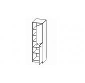 МГ Конти шкаф-пенал 500 (венге/дуб сонома)