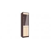 МГ Конти шкаф-пенал со стеклом 450 (венге/дуб сонома)