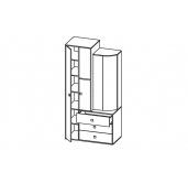 МГ Венера шкаф комбинированный 21.72